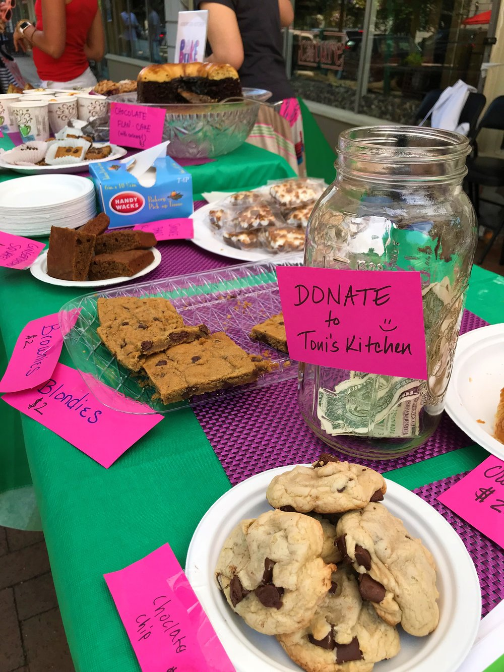 Yummy Baked Goods and Generous Donations