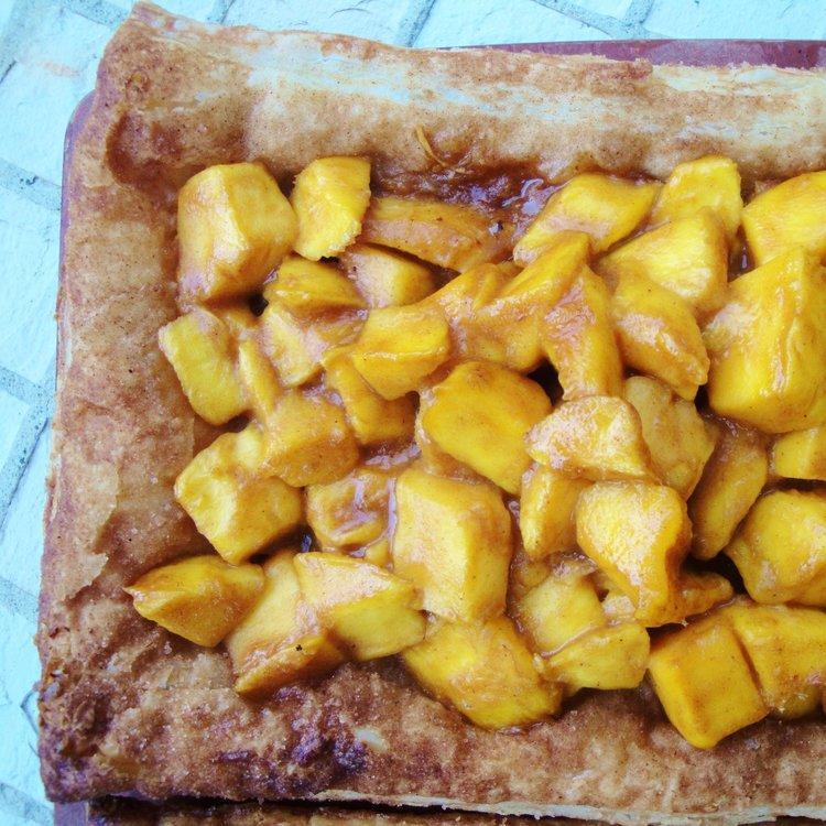 Mucho Mango Tart  made in the Adventure Kitchen.