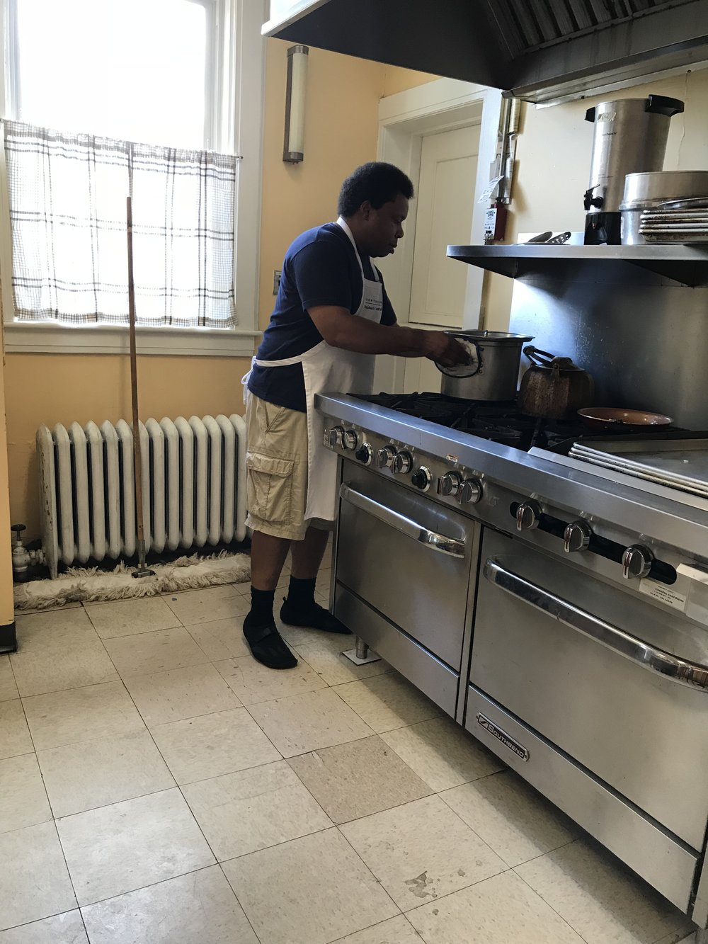 Our kitchen manager Kelvin