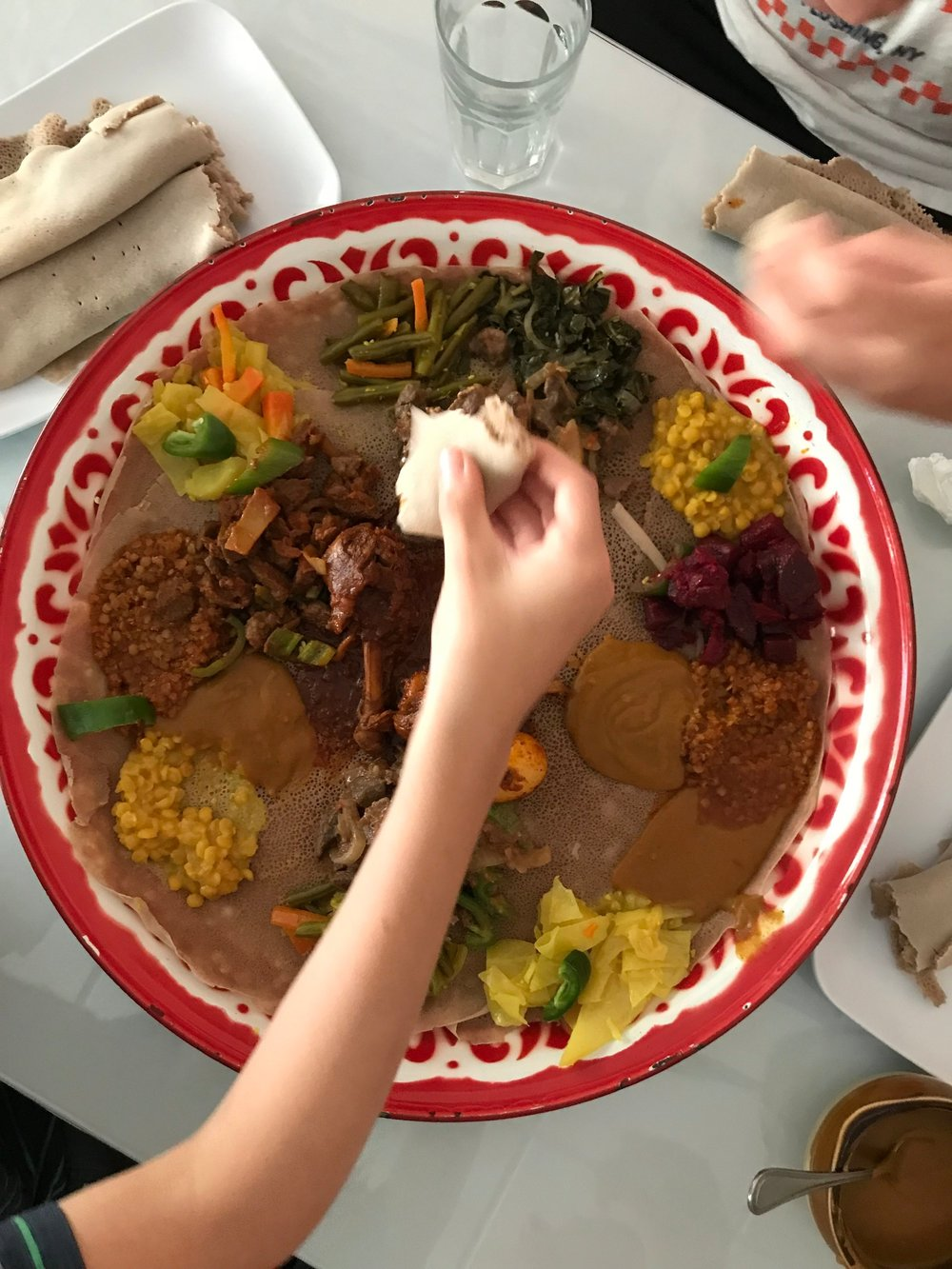 We went to Abyssinia, an Ethiopian restaurant in Harlem, on our first day of Adventure Camp last year.