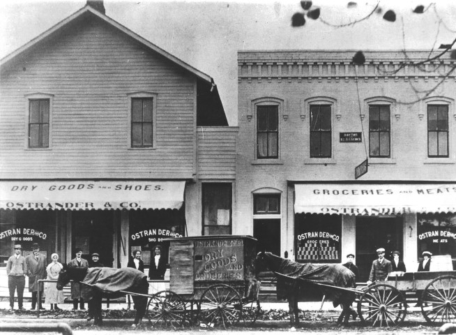 Ostrander Store located on Third Street and backed up to the canal