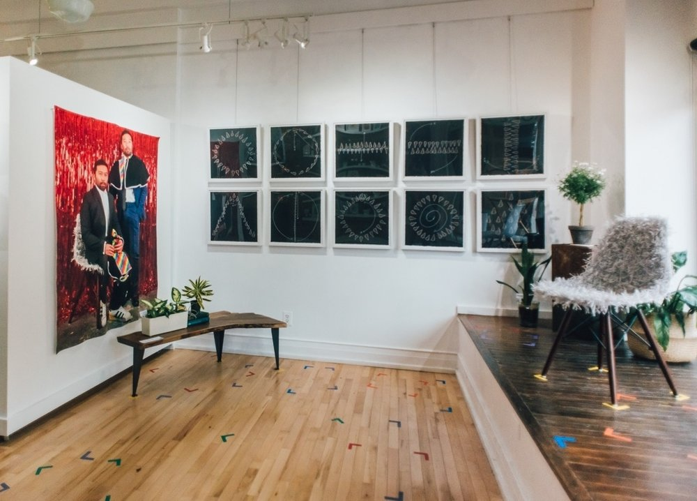 Exhibition view of  And We'll Have a Real Good Time  at Light Gallery + Studio in Grand Rapids, Michigan