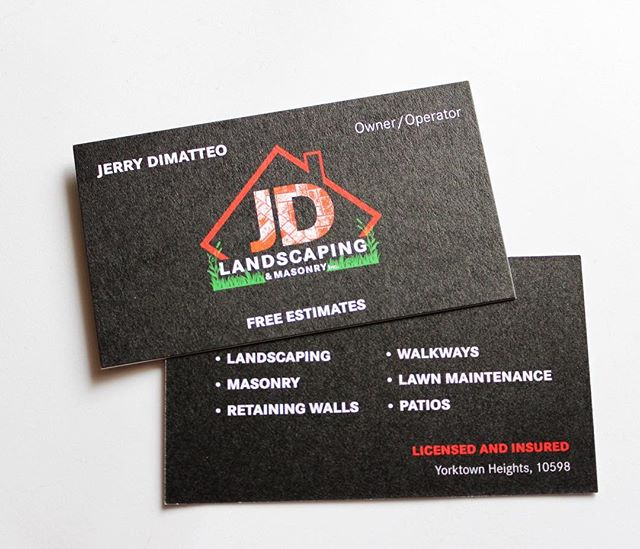 Designing westchester business cards for the one and only jdlandscape914 call today for complimentary estimates reheart Choice Image