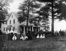 The parsonage (1871) has housed Trinity pastors and families for over 140 years.