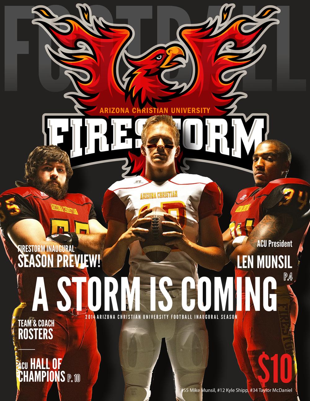 Sports media guide cover design