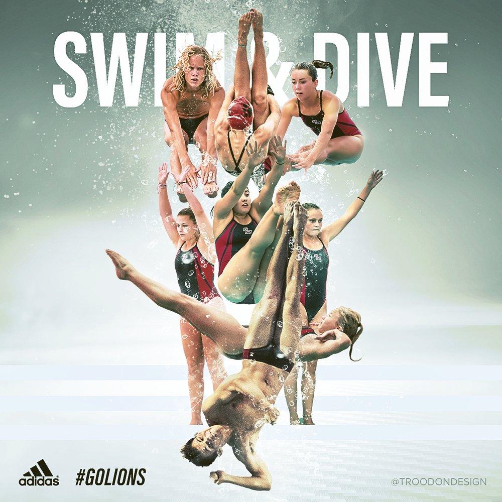 Swim & Dive social media sports design