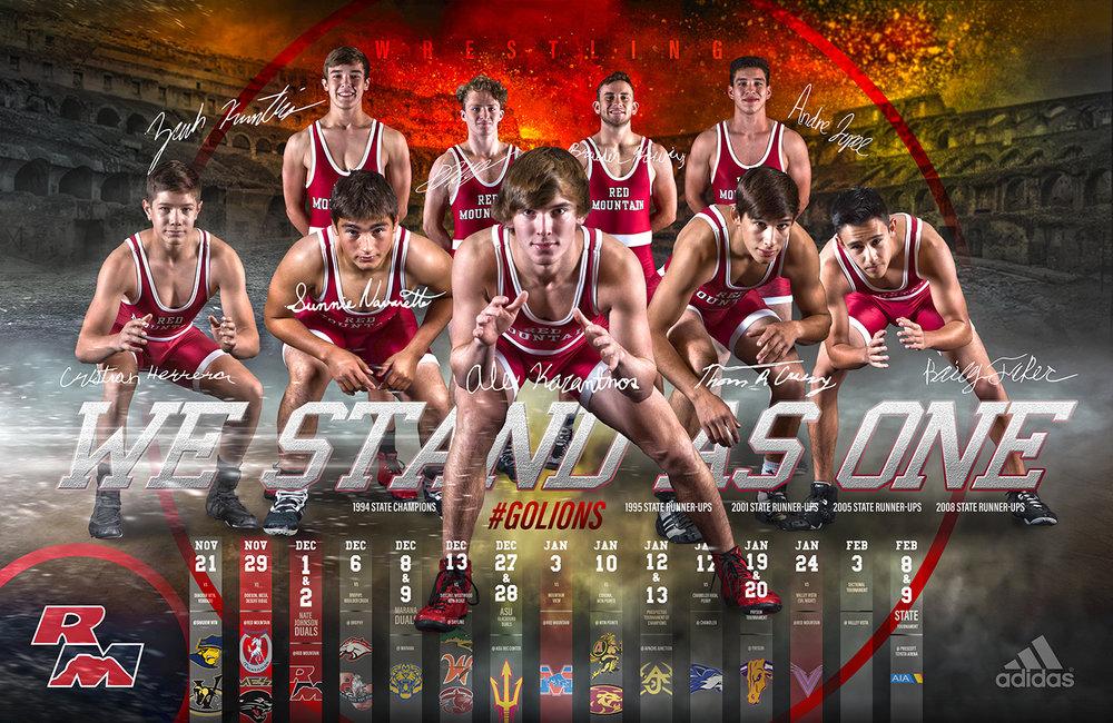 Wrestling Poster Sports Design