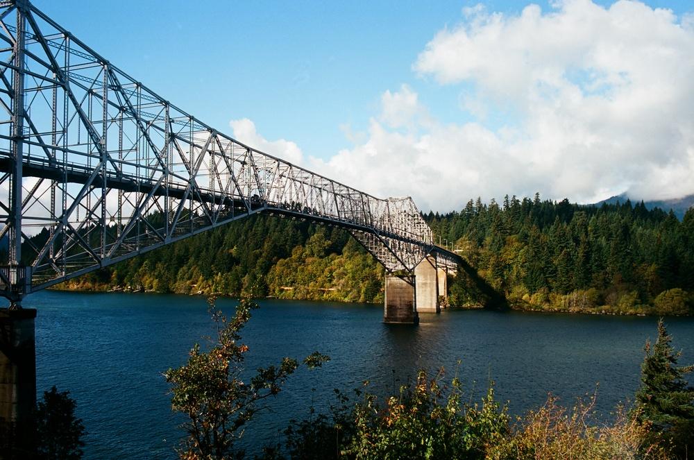 Bridge of the Gods, Columbia River Gorge, OR  Canon A-1 /Kodak Ektar 100