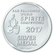 2017 San Francisco World        Spirits Competition Silver Medal - Flavored Vodka