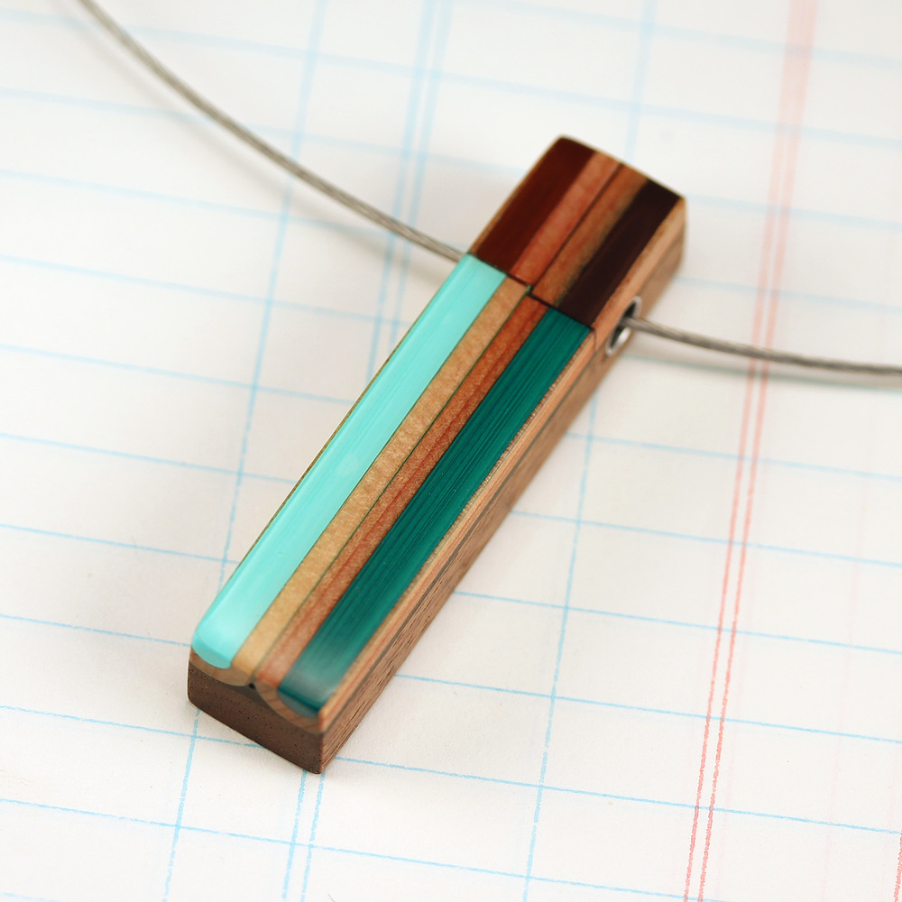Pencil Pusher Art & Jewelry colored pencil necklace $49