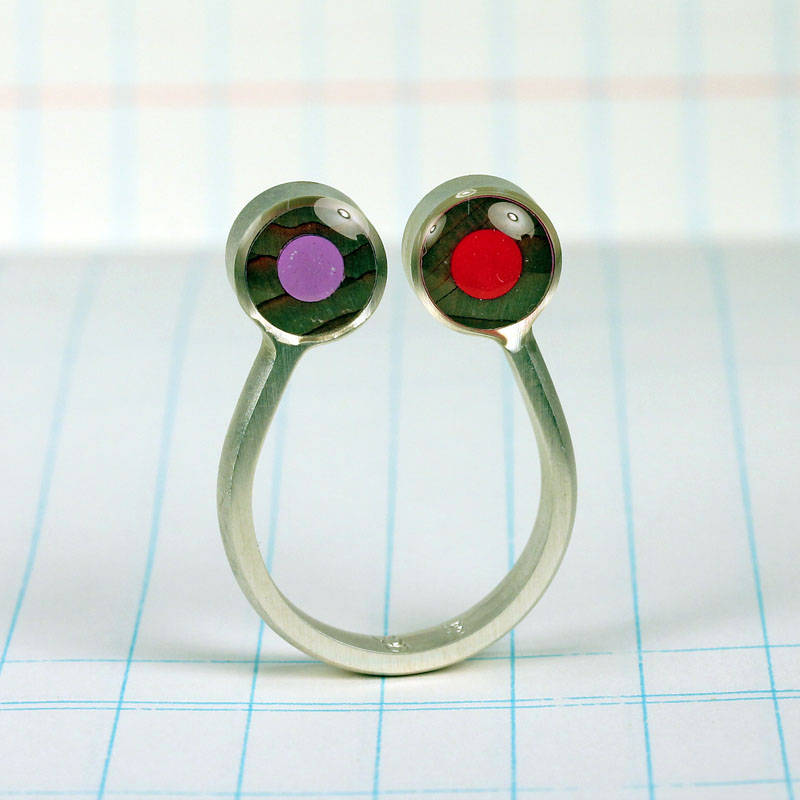 Pencil Pusher Art & Jewelry Sterling Silver & colored pencil ring $69