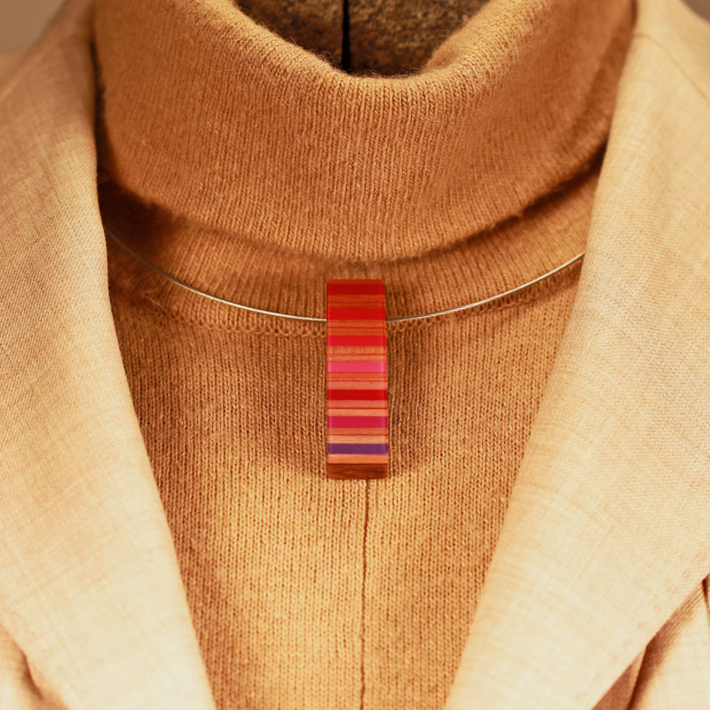 """Pencil Pusher Art & Jewelry """"colored pencil necklace $49"""