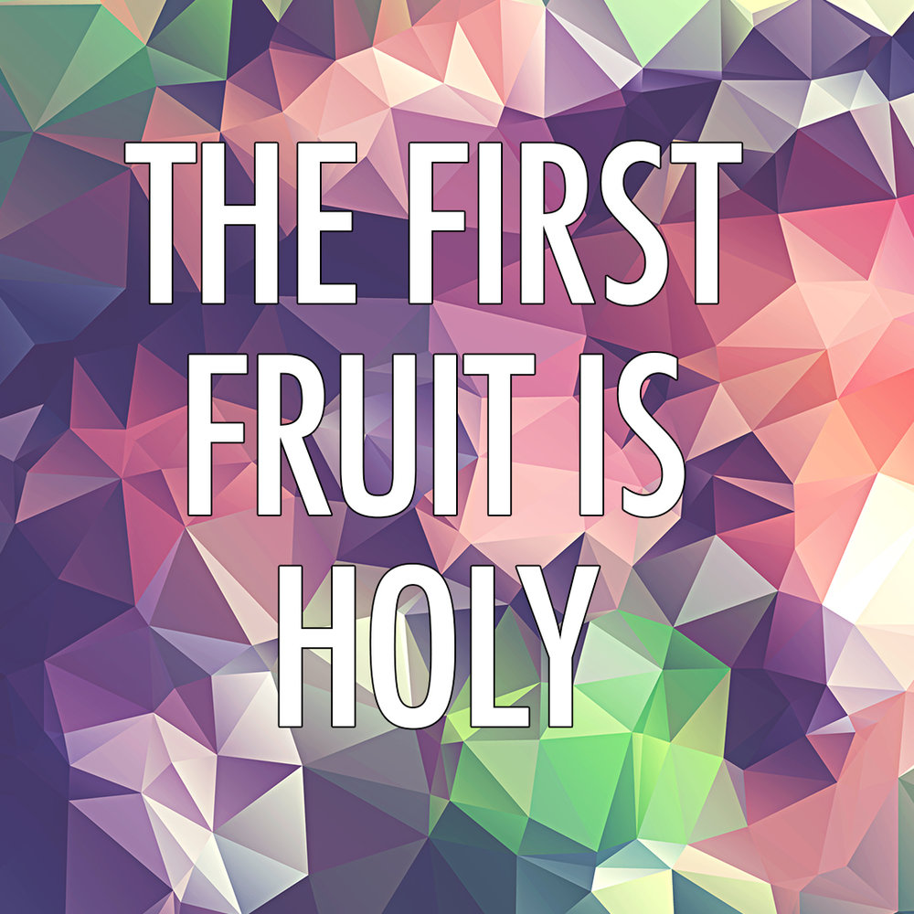 """The First Fruit is Holy"" 1/22/17"