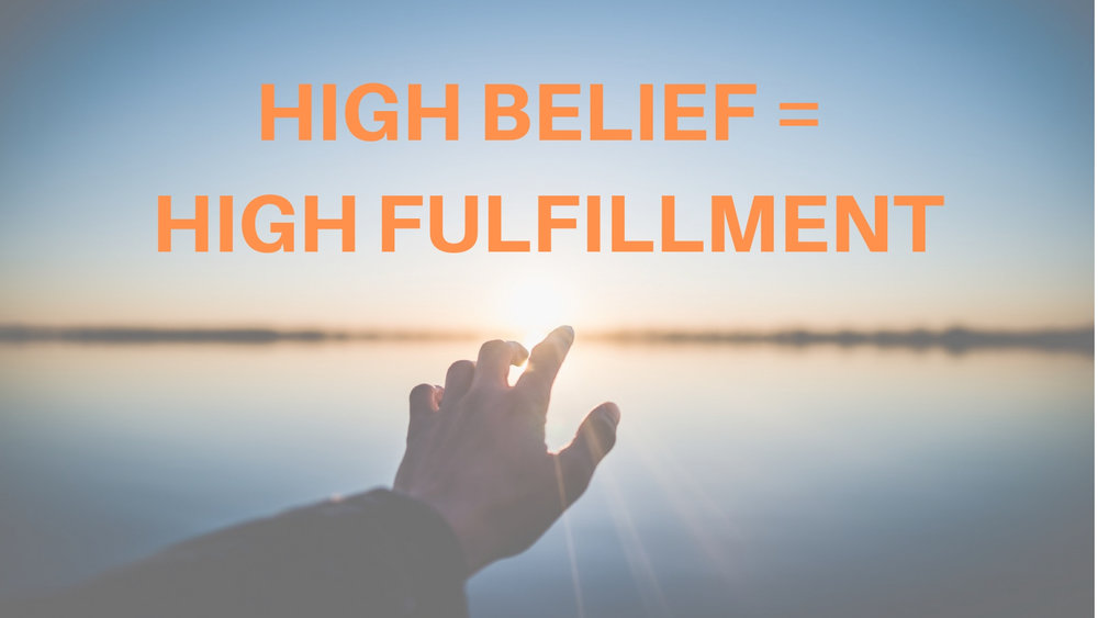 """High Belief = High Fulfillment"" 1/27/19"