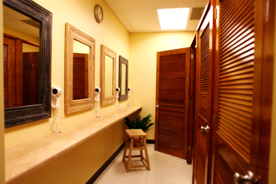 Private dressing rooms