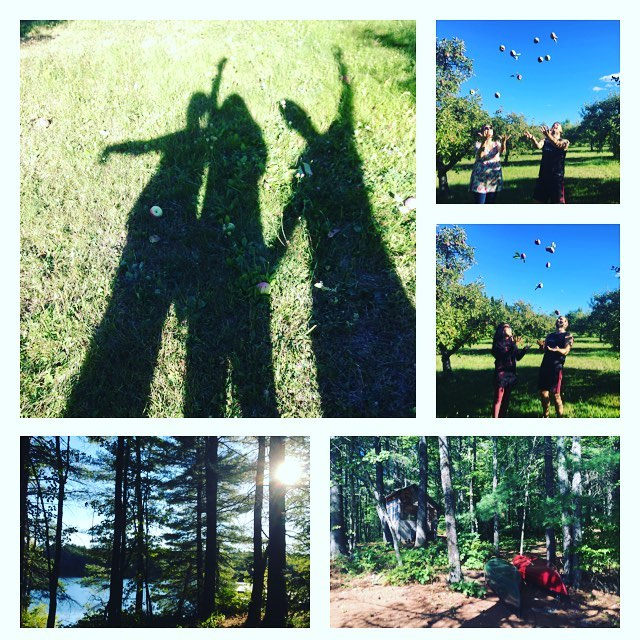 Not a bad Thursday. #avalochfarm #musiccamp #apples #stemmusic #lake #buddies