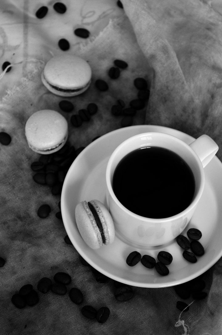 macarons and coffee