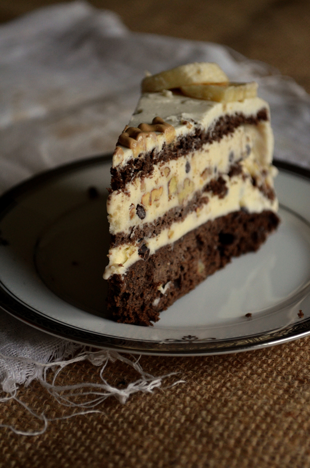 Chunky Monkey Ice Cream Cake | Pass the Cocoa
