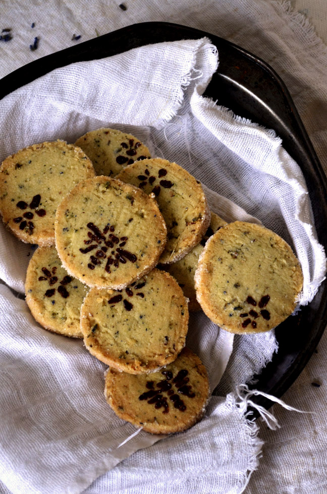 Lavender Sable Cookies