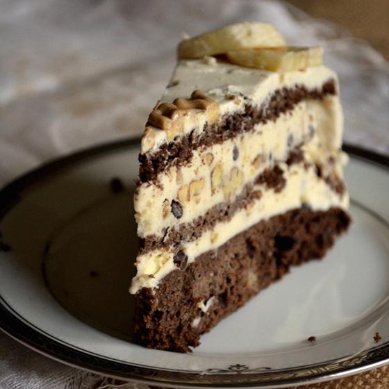 Chunky Monkey Ice Cream Cake