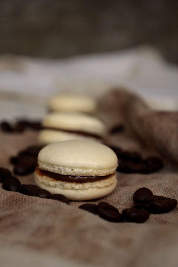 Hazelnut Mocha Macarons