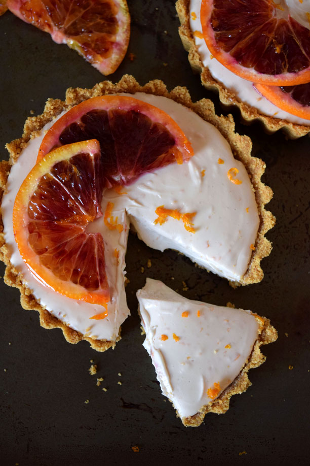 No Bake Blood Orange Cheesecake Tartlets | Pass the Cocoa