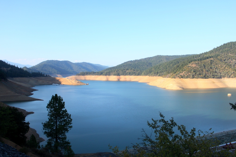 Trinity Lake - Dam to the right bottom corner