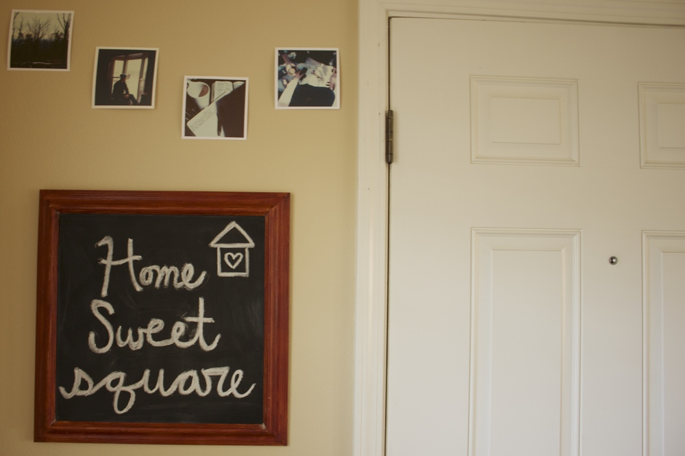 GETTING CREATIVE: DIY CHALKBOARD