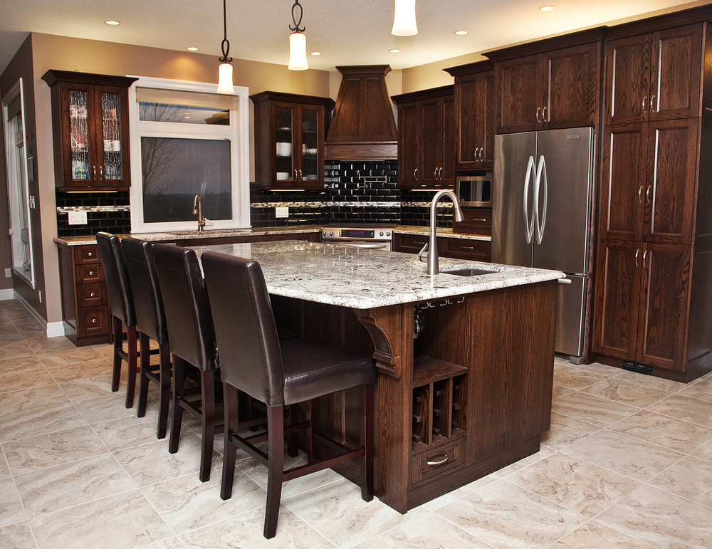 Dark Maple Kitchen Cabinets cabinetry — adelaide creek furniture