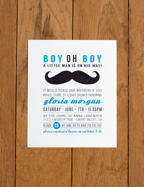 Mustache bash j e n n a d i a n e baby shower invitation 2013 card stock 45 x 575 inches filmwisefo