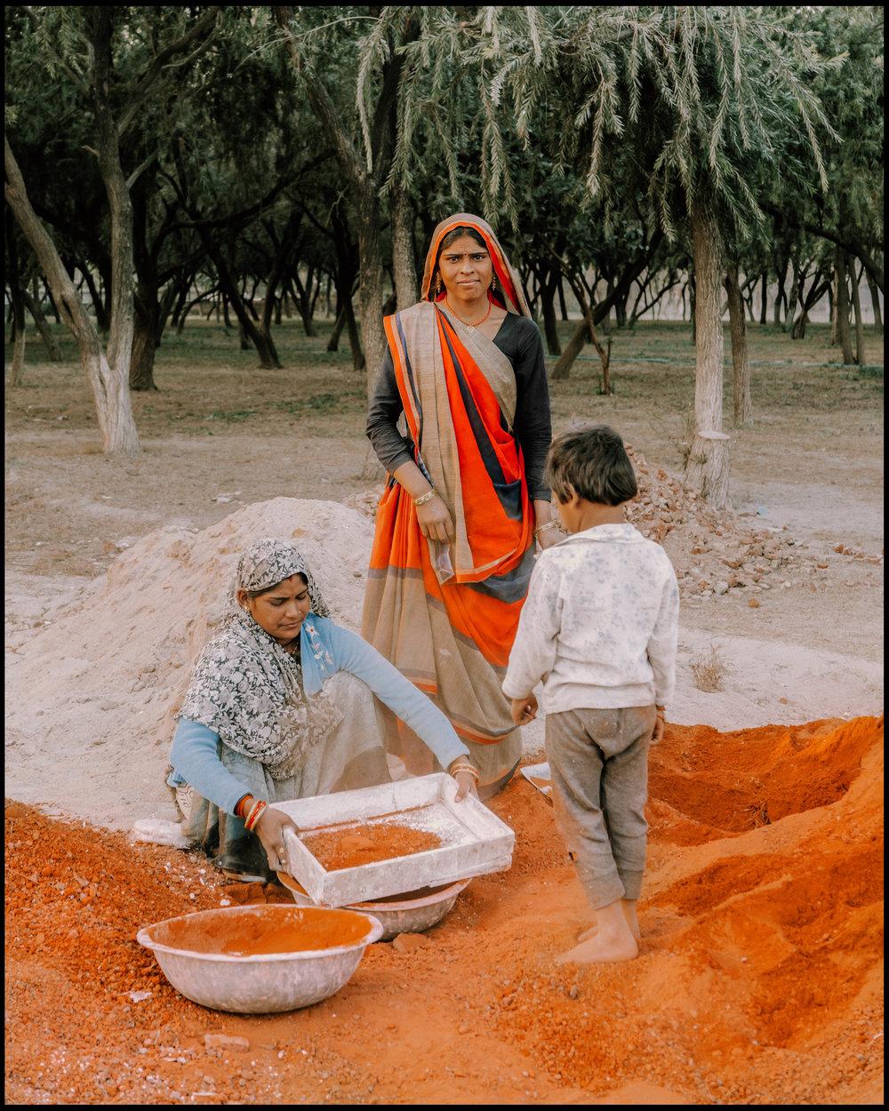 Family in Agra