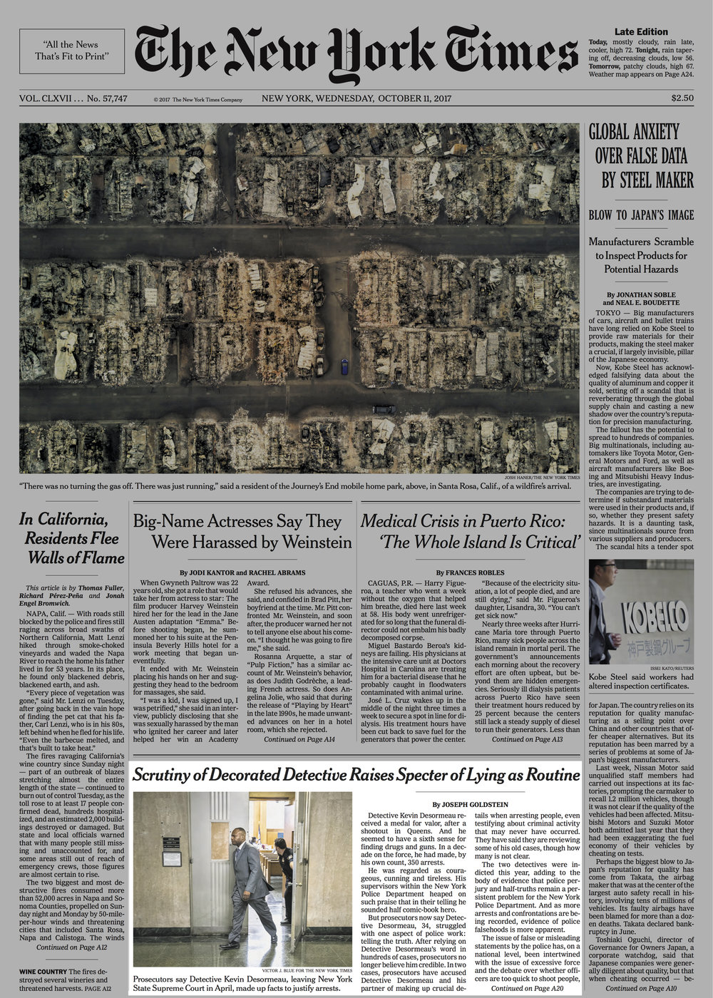 The front page of today's New York Times takes a deep look at the problem of police perjury as illustrated by the firm's cases and others. -