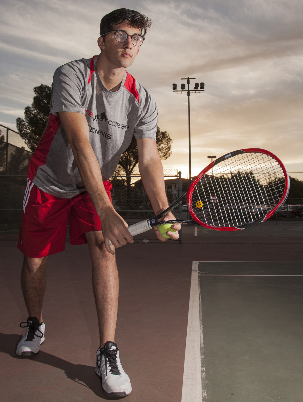 """""""He stood by me every single day motivating me that I could do it and I will do it because he's there,"""" said Anthony Avakian, who was in a car accident that left him in a coma two years ago. Avakian now plays tennis for Pierce."""