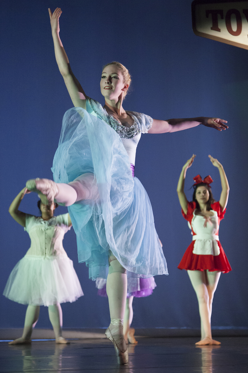 """Cassandra Godinez, center, plays the lead role of a dancing doll during the third act of """"Vignettes"""" on Thursday, May 19, 2016, inside the Performing Arts Center Mainstage in Woodland Hills, Calif."""