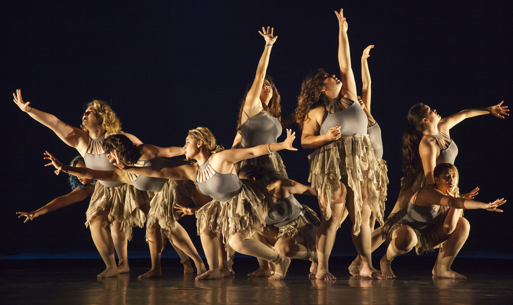 """The second act of the dance concert """"Vignettes,"""" dancers tell the story of human trafficing and slavery. Vignettes opens at the Performing Arts Center of Pierce College in Woodland Hills, Calif. on Friday, May 20, 2016."""