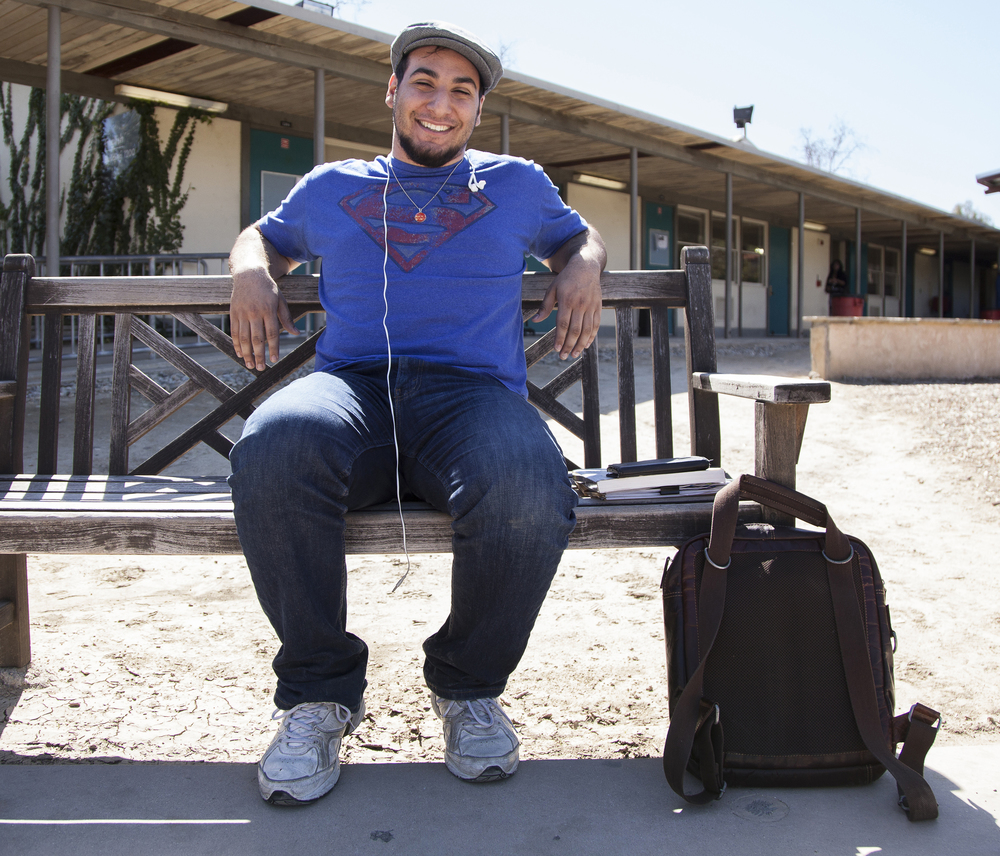 """17-year-old Alex Arzoo, a biology major, sits on a bench in the Botanical Garden of Pierce College in Woodland Hills, Calif. on Wednesday, Feb. 24, 2016. Arzoo's parents went to UCLA. """"My parents never pressured me into going to UCLA even though my mom hates the Trojans,"""" Arzoo said. """"UCLA gives me the feeling of being in a community. It feels like it's own little city in the middle of Los Angeles. It has its own supermarkets, it has its own dormitories, everything exists within it. I love the idea of entering its own little bubble of society for my college career."""""""
