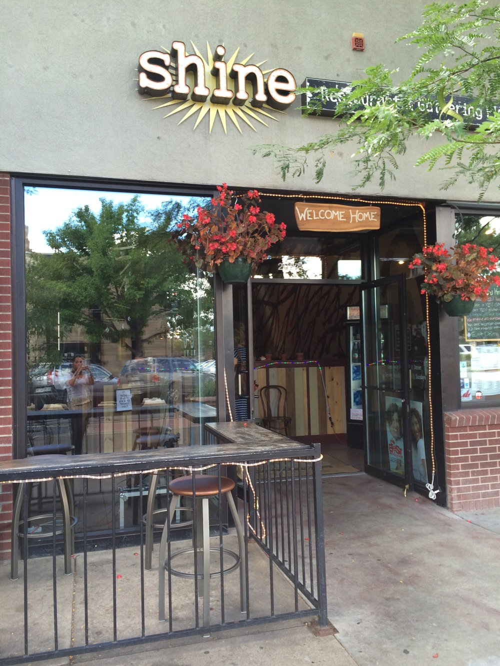 Shine Restaurant's Gathering Place (in the back) is our home base for Sunday Socials. Thank you Shine :)