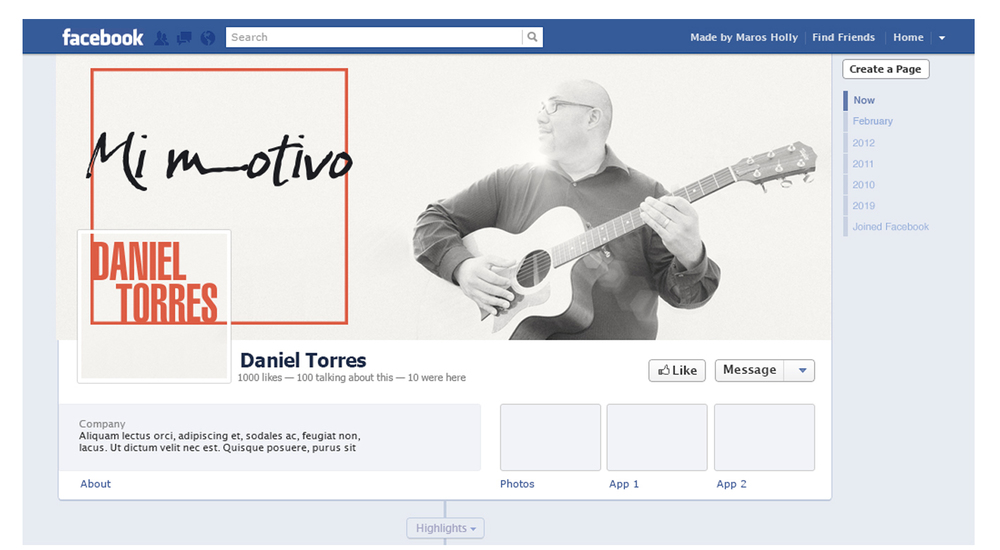 Daniel Torres Musician  - Social Media Artworks