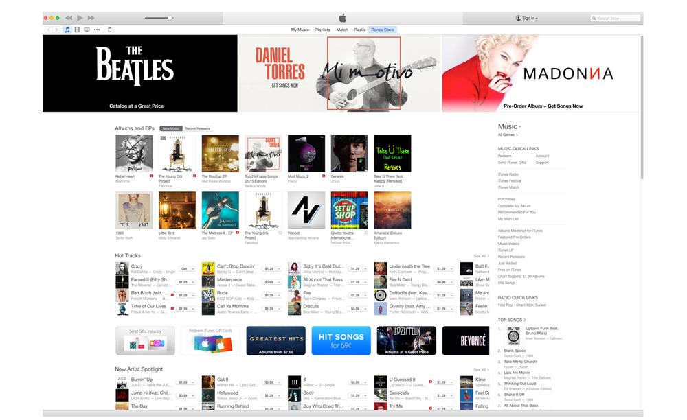 Daniel Torres Musician  - iTunes Promotional Banner