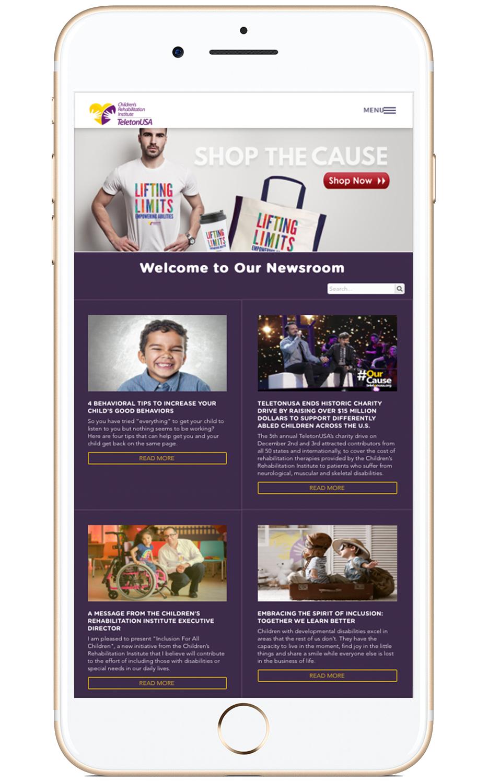 Proyecto: Children's Rehabilitation Institute of TeletonUSA - Ejemplo de websites para organizaciones no-lucrativas