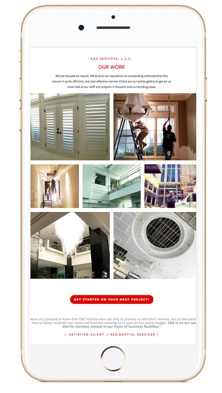 Proyecto: C&Z Construction Services, LLC - Construyendo presencia de marca en el campo digital para pequeños negocios.