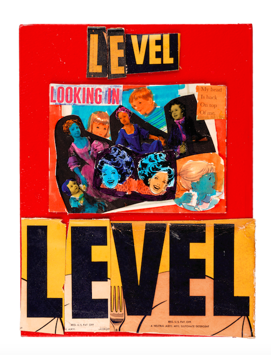 "Level, 2005 9 x 12"" Mixed Media Collage"