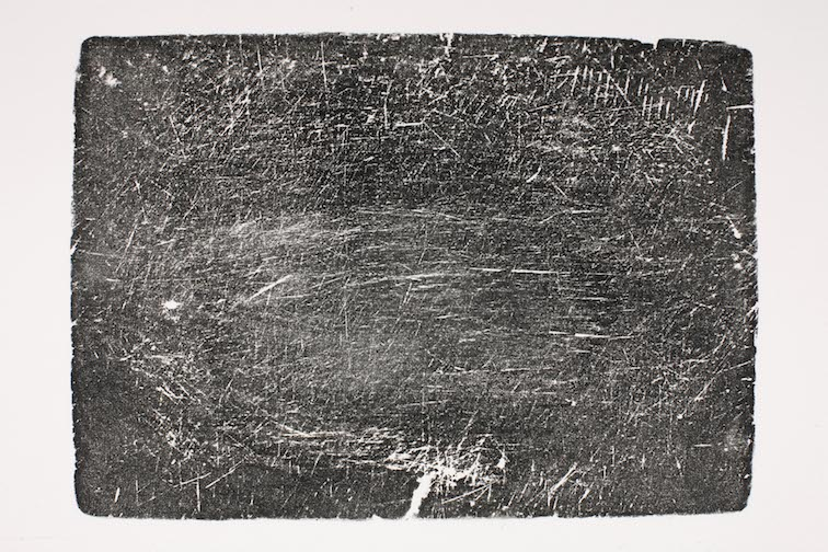 Mary Beth Heffernan  Cutting Board (Clement Family) ,  Side A,  2005 Two monoprints, limited editions of 5 23 x 29.5 inches