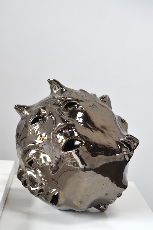 Elizabeth Orleans  Big Voices (ED) , 2015 12 x 12 x 11 inches Glazed ceramic