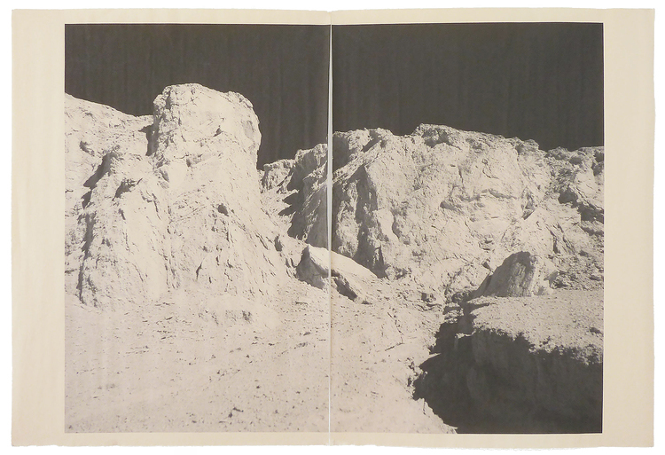 Alia Malley  DV_7276 , 2013 Unique diptych pigment print on newsprint Sheet : 36 x 24 inches / Framed : 26.25 x 35.25 Signed by the artist on mount verso Printed by the artist in 2015