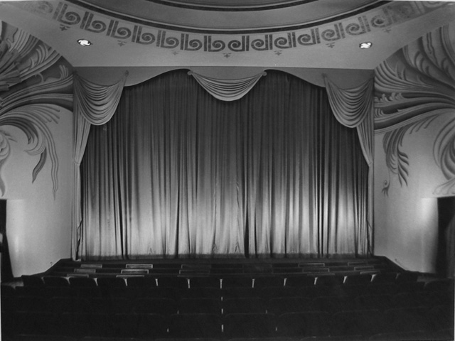 Julius Shulman  Academy Theatre, Interior, Los Angeles, CA , 1940 (S. Charles Lee, architect, 1939, Inglewood, California) Gelatin silver print 20 x 24 inches Signed by Shulman in pencil on verso