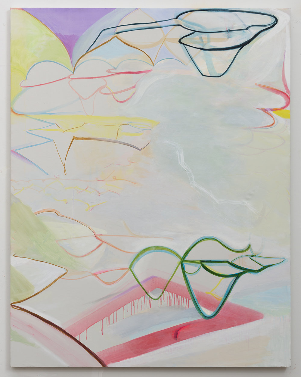 Rebeca Puga  Reconfigurations , 2016 Oil on canvas 72 x 56 inches