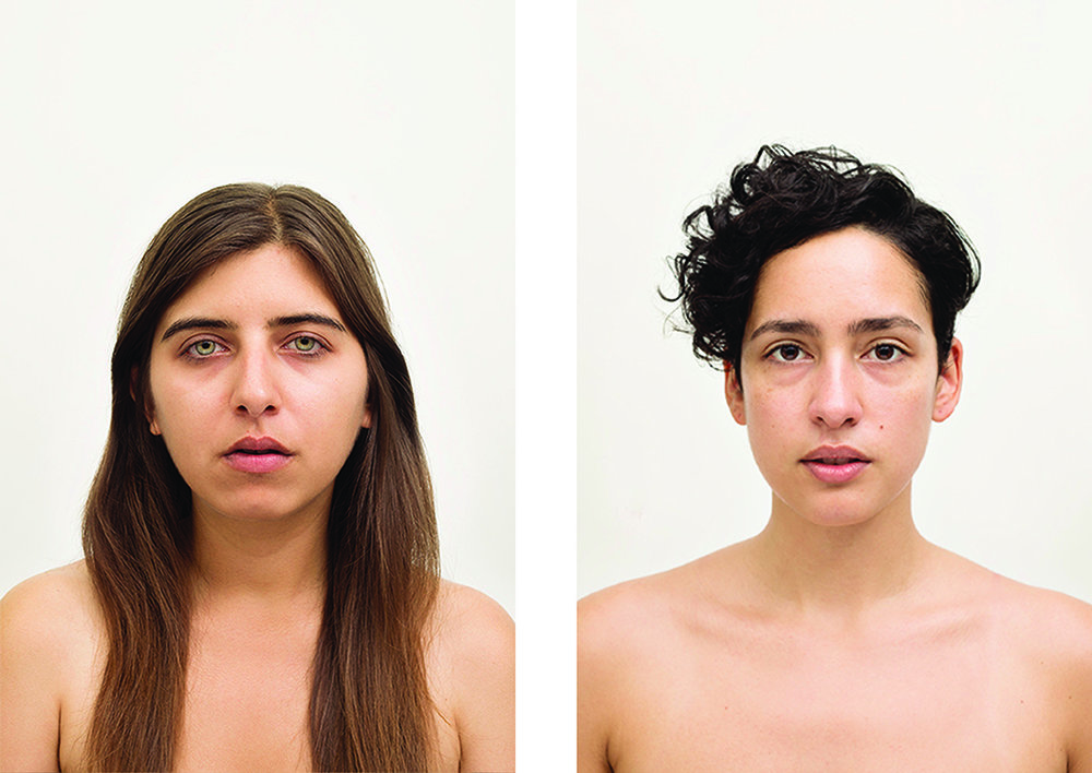 Amanda Vincelli  Regimen Portrait Arrangement D , 2014 / 2015 Set of 2 from the series,  Regimen  From a limited edition of 5         Individual portraits: 12.5  x 18.75 inches Archival pigment prints with UV matte overlaminate