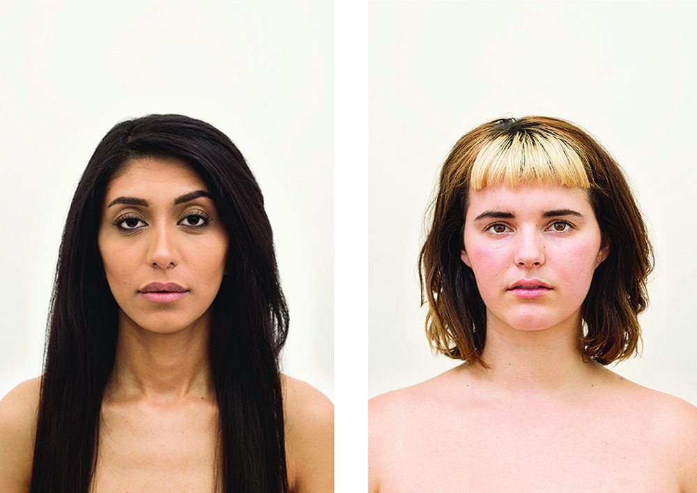Amanda Vincelli  Regimen Portrait Arrangement E , 2014 / 2015 Set of 2 from the series,  Regimen  From a limited edition of 5         Individual portraits: 12.5  x 18.75 inches Archival pigment prints with UV matte overlaminate