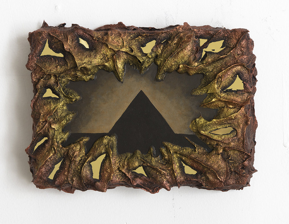Kelly Berg  Giza Mirage , 2016 Acrylic and metallized ABS on wood 5 x 7 inches